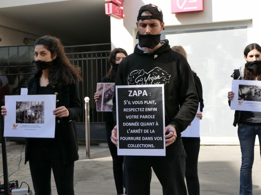 Happening Zapa – 25 mars 2017 - vraie fourrure