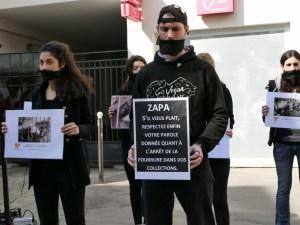 vraie fourrure Happening Zapa - 25 mars 2017