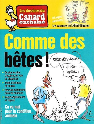 Le Canard Enchaîné - articles animalistes de revues
