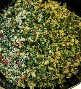 Salade d'herbes -cuisine vegan