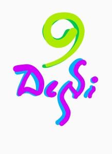 Desi Abhivyakti Logo - word art by Sindhu in English and Kannada