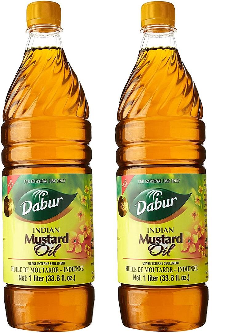 Dabur Mustard Oil 1 Liter Each Bottle (Pack of 2) #41043 ...