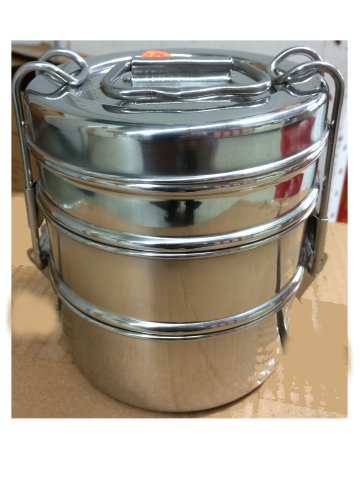 Stainless Steel Lunch Box Tiffin Small 3 Amp 2 Tier