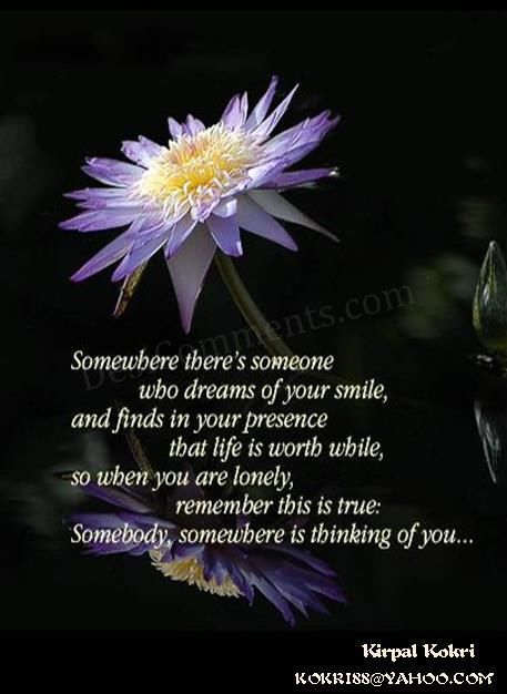 Punjabi Sad Quotes Wallpapers Somebody Somewhere Is Thinking Of You Desicomments Com