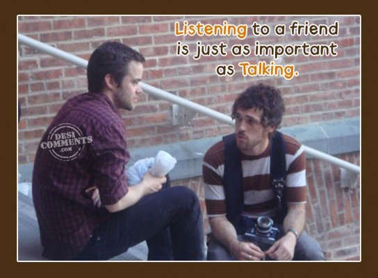 Friendships Wallpapers With Quotes Listening To A Friend Is Just As Important As Talking
