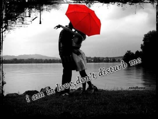 Love Quotes With Wallpapers In Hindi I Am In Love Don T Disturb Me Desicomments Com