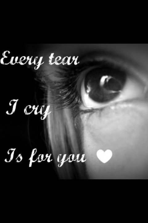 Sad Girl Quotes Wallpapers Every Tear I Cry Is For You Desicomments Com