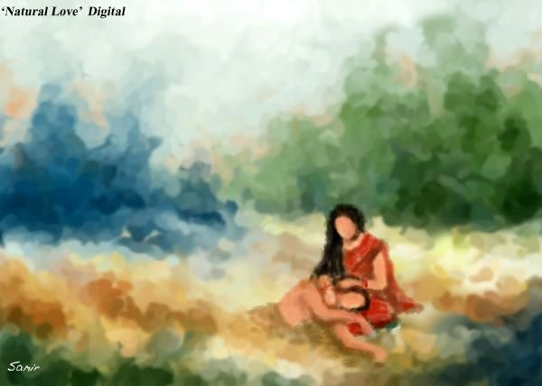 Sweet Couples Cute Love Wallpapers Love Painting Desicomments Com