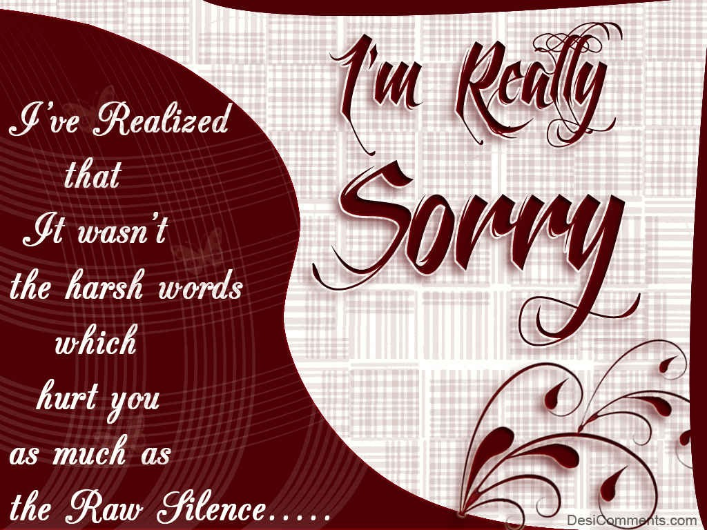 Hurting Love Quotes Wallpapers I Am Really Sorry Desicomments Com