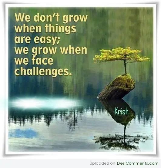 We grow when we face challenges - DesiComments.com
