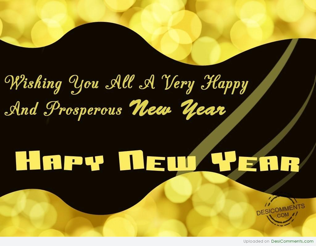 Wishing You A Prosperous New Year