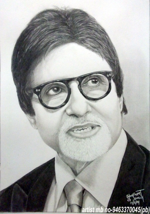 Pencil Portrait Of Amitabh Bachchan
