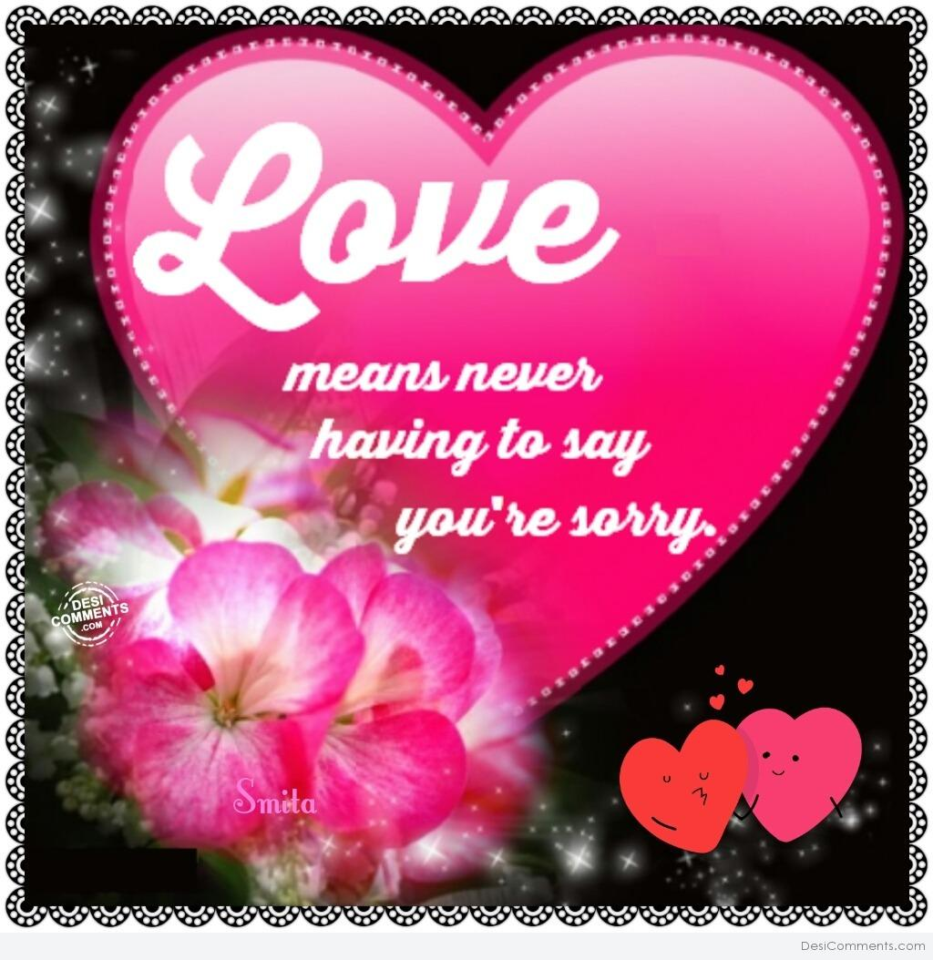 Hd Wallpapers Of Love Quotes In Hindi Love Means Never Having To Say You Re Sorry Desicomments Com