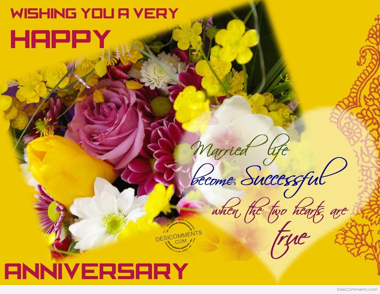 Wishing You Very Happy Wedding Anniversary - DesiComments.com