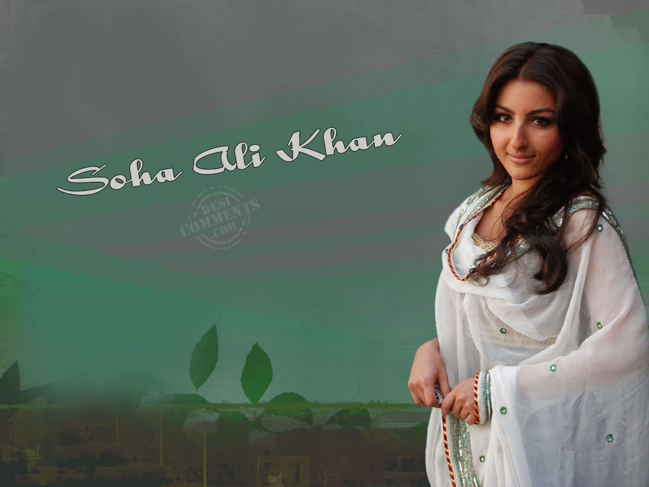 Punjabi Girl With Gun Wallpaper Soha Ali Khan In Simple Look Desicomments Com