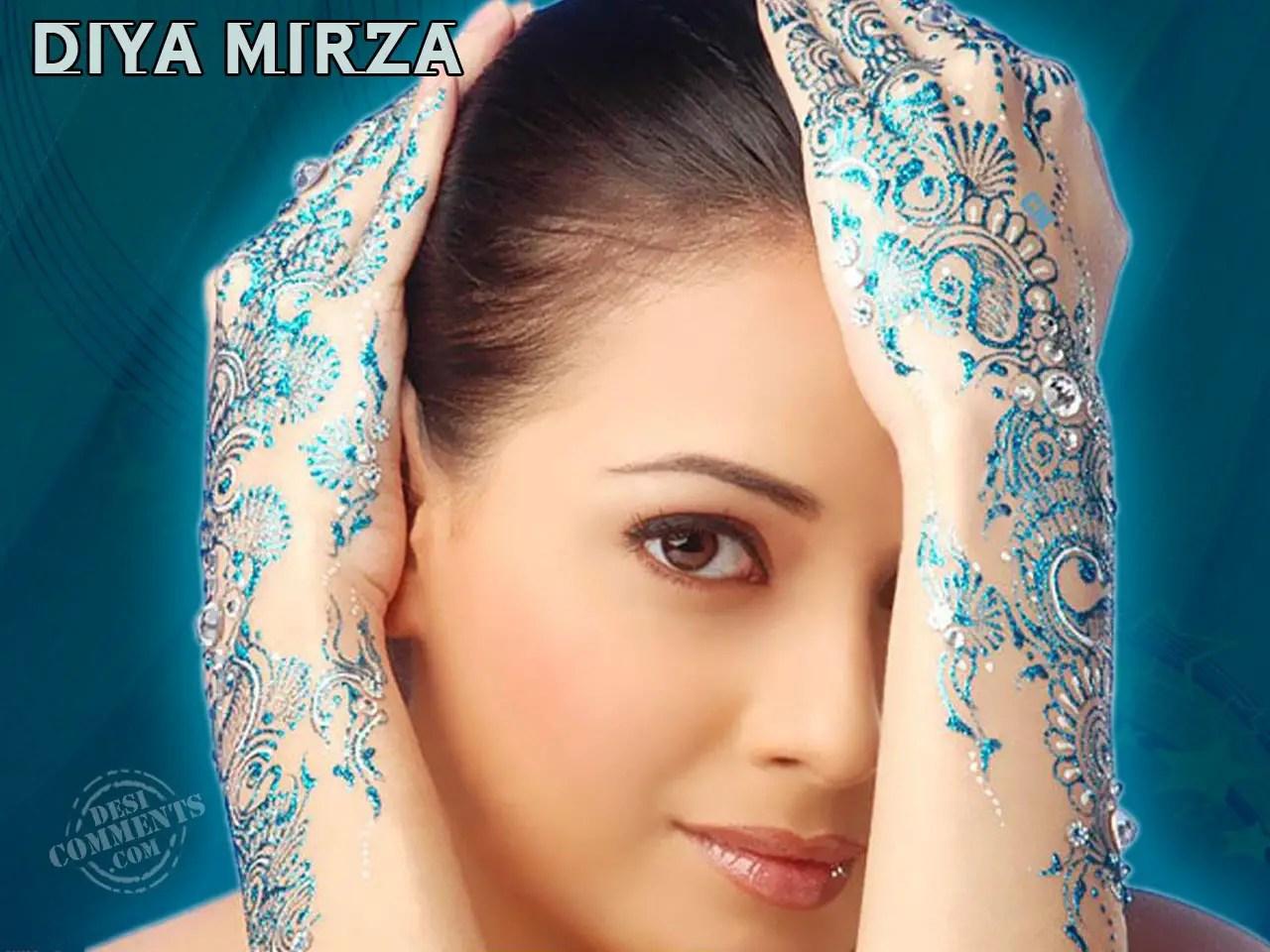 Usa Anime Girl Wallpaper 1920x1080 Diya Mirza Wallpapers Bollywood Wallpapers