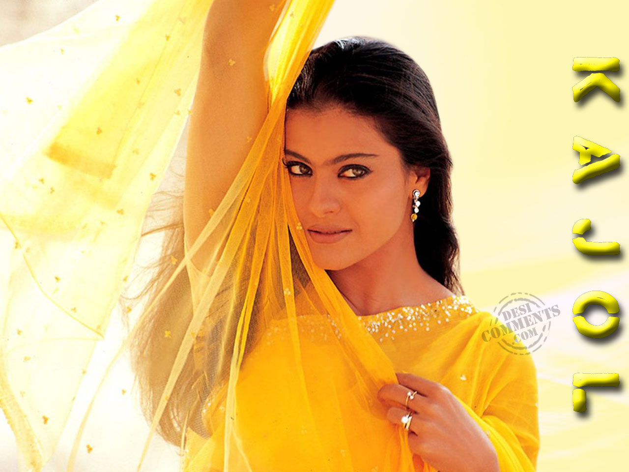 Hindi Girl Comment Wallpaper Beautiful Kajol Desicomments Com