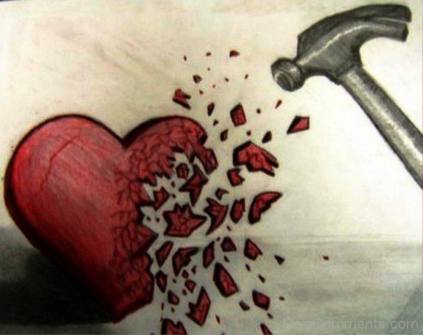 Broken Heart Wallpapers With Quotes In Hindi Heart Broken By Hammer Desicomments Com
