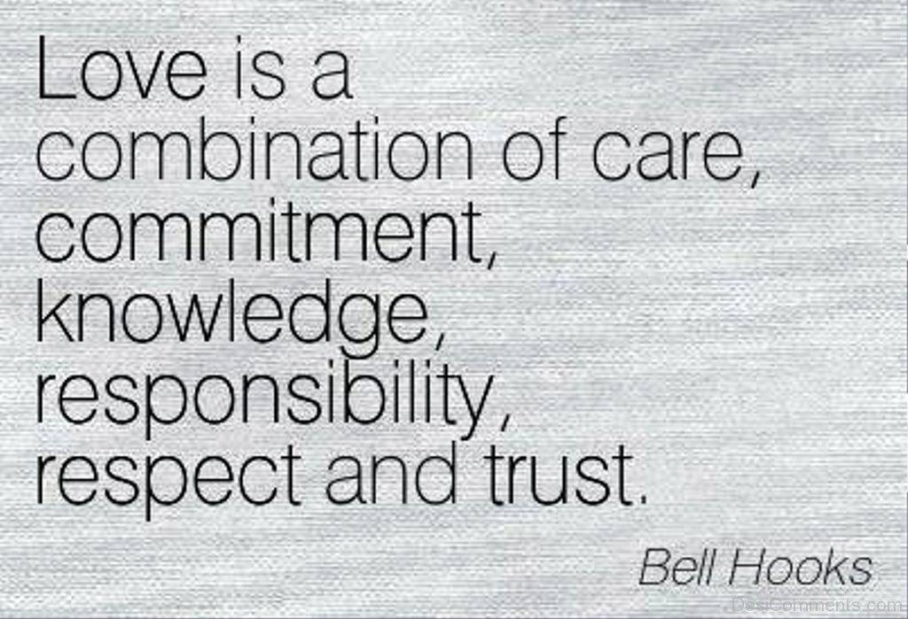 Love Is Combination Of Care,Respect And Trust