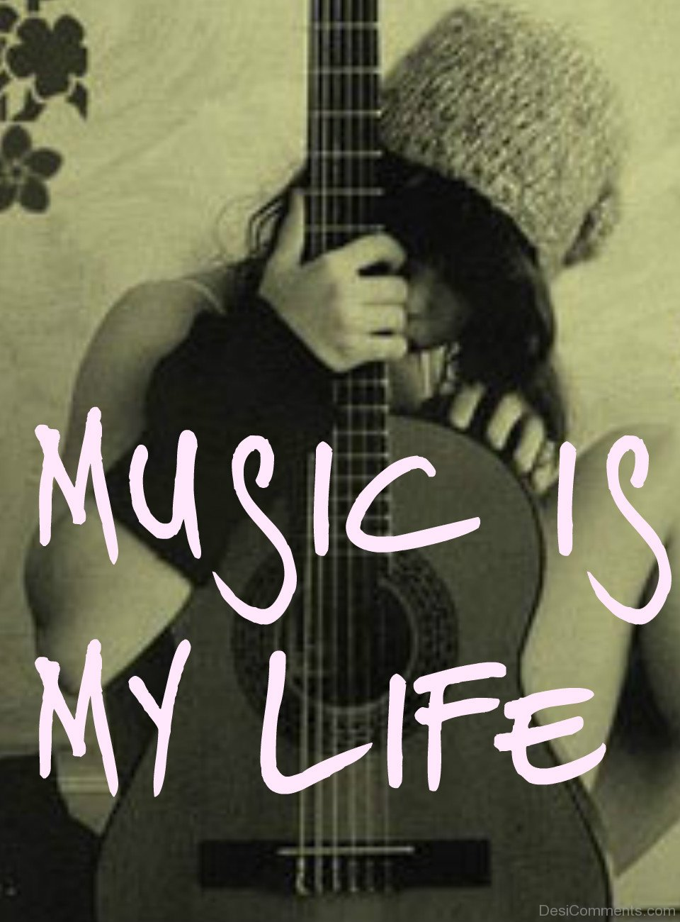 Sad Girl With Guitar Wallpaper Music Is My Life Girl Holding Guitar Desicomments Com