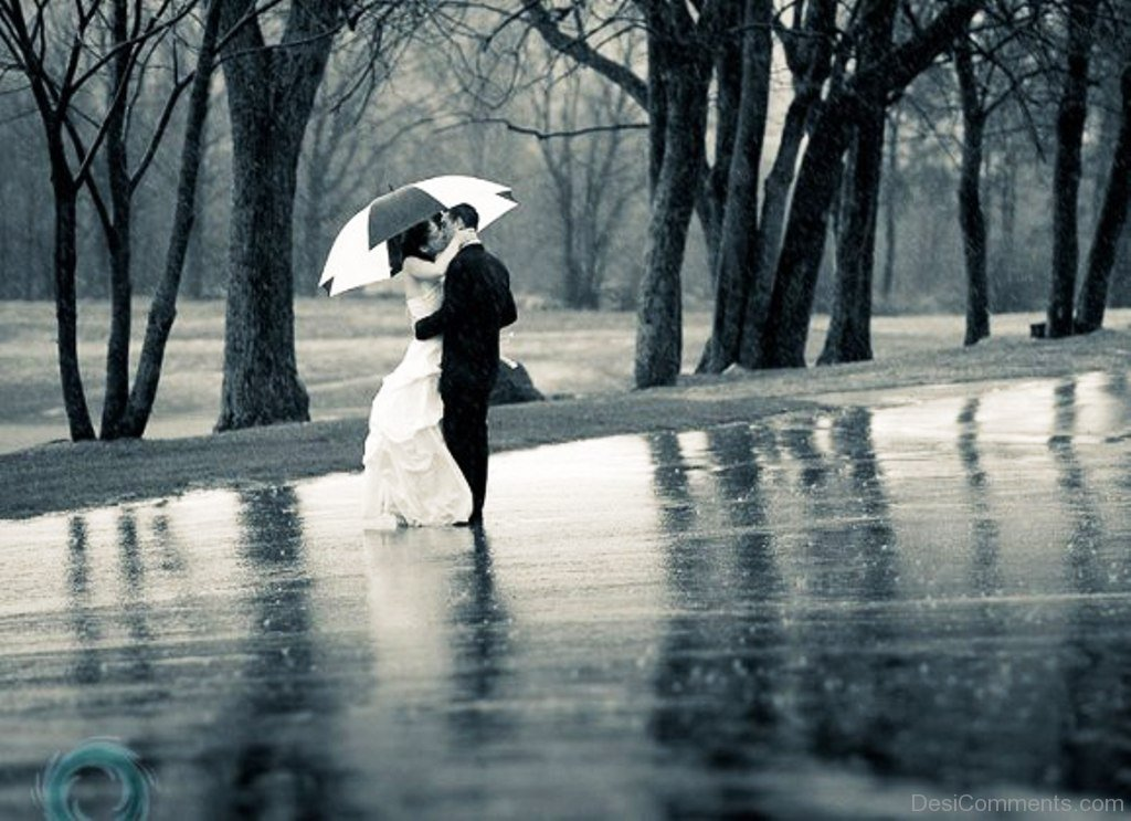 Punjabi Couple Wallpaper With Quotes Sweet Couple Standing In Rain Desicomments Com