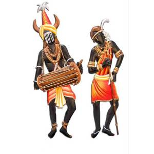 tribal couple dancing together wall hanging for home decor