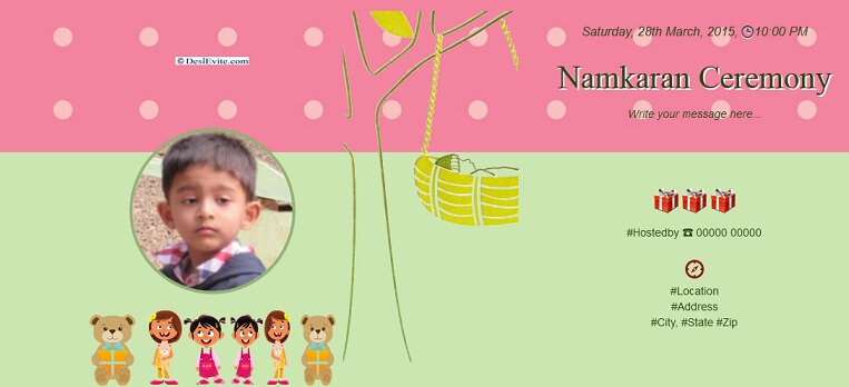 Naming Ceremony Invitation Templates Free
