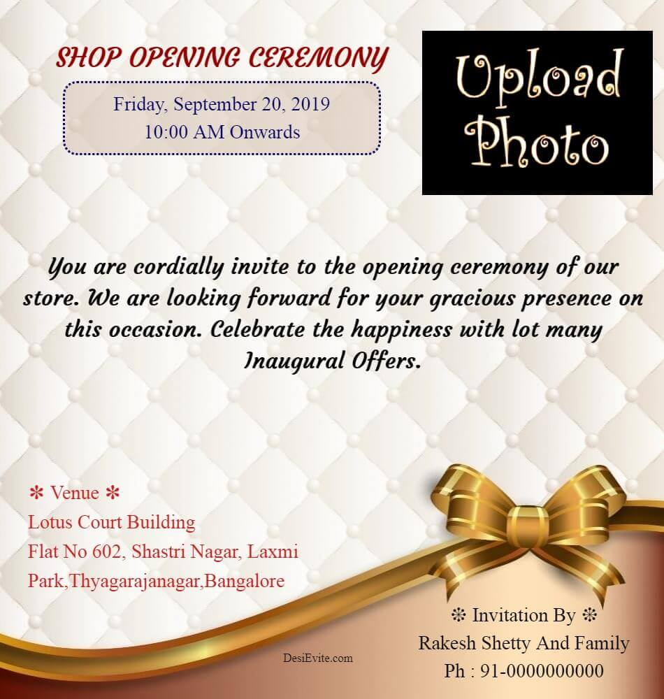 office shop inauguration ceremony