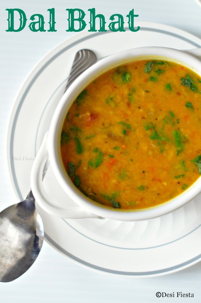 Dal Bhat ( Lentils and rice) | Nepalese Style