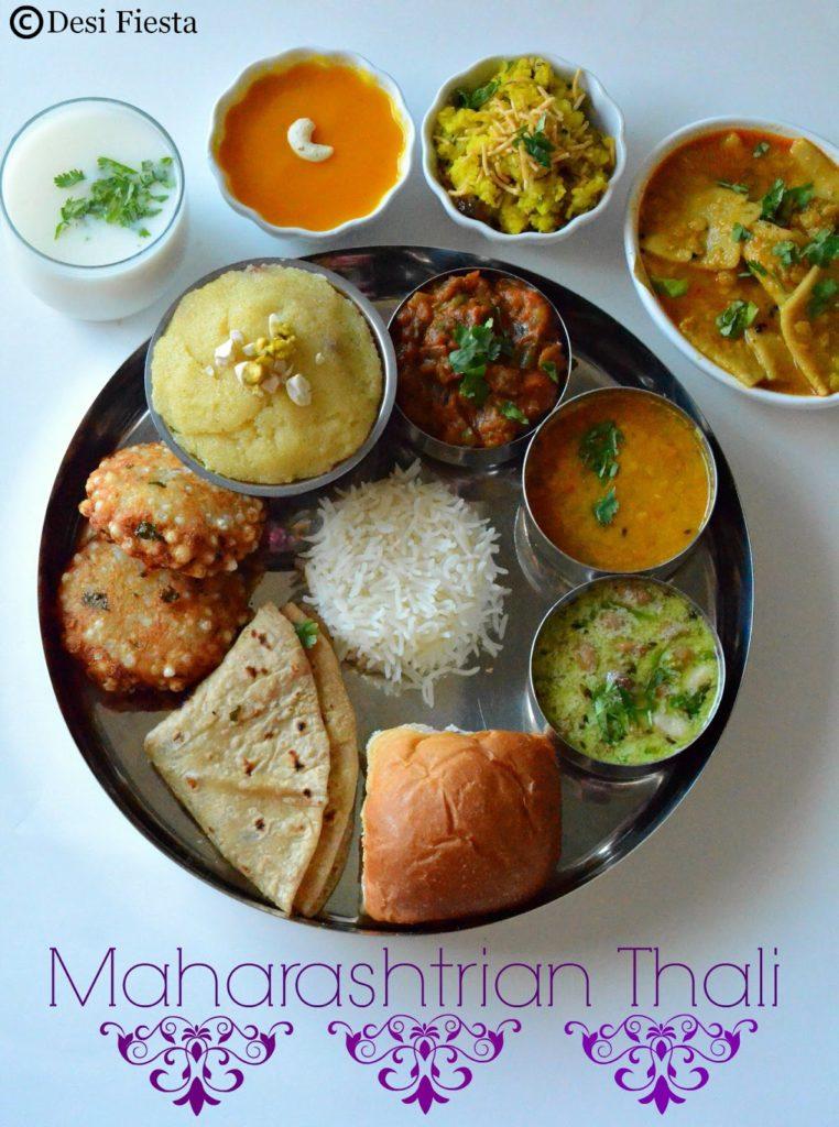 Maharastrian thali marathi thali desi fiesta maharastrain cuisine forumfinder Choice Image