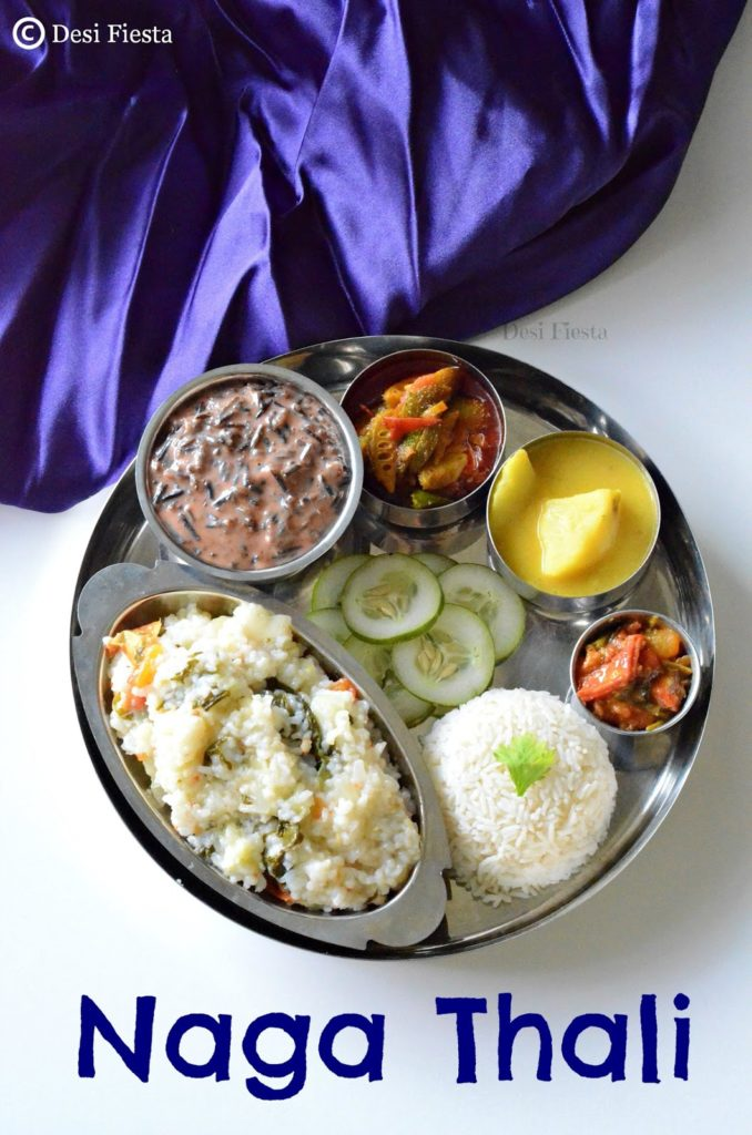Naga thali nagaland cuisine desi fiesta after mizo here comes the turn of nagaland which is one tough state to get veg state i would never survive in the state without veg recipes forumfinder Choice Image