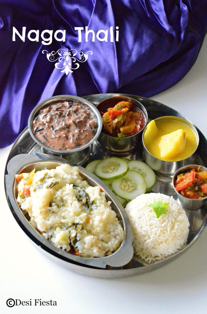 Naga thali nagaland cuisine desi fiesta chutneys are always popular here and tomato chuney is most frequently made here lets quickly move on to the recipe nagaland thali menu forumfinder Choice Image