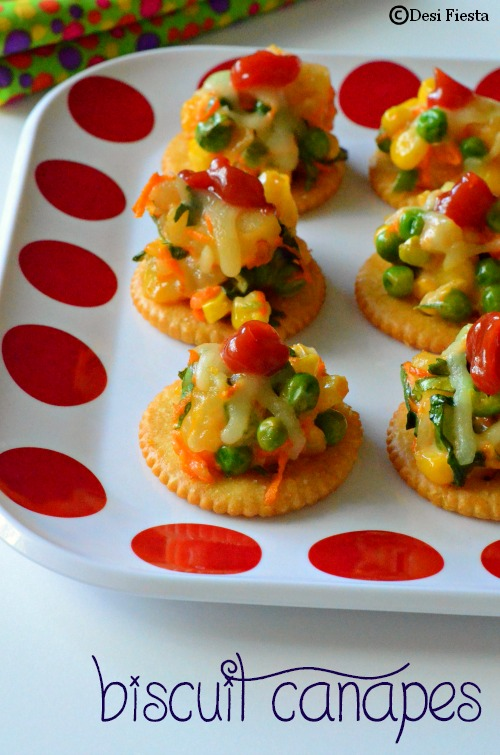 Biscuit canapes with vegetable topping monaco canapes for Canape toppings
