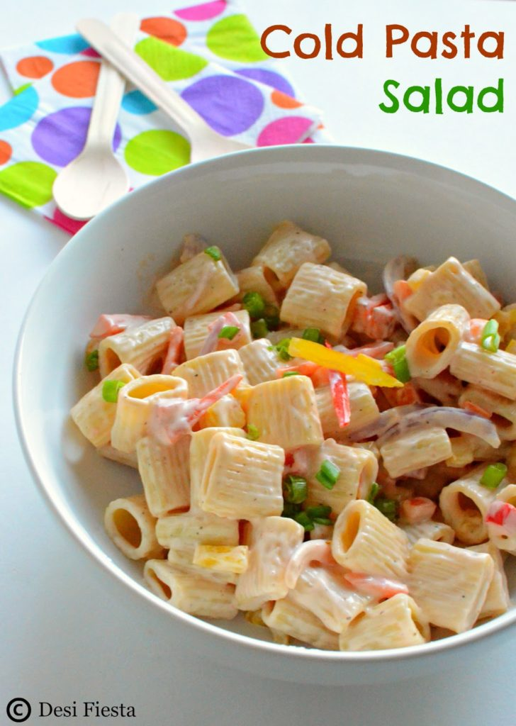 Cold Pasta Salad With 1000 Island Dressing Pasta Salad With Thousand Island Dressing Recipes Desi Fiesta