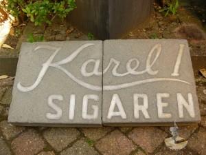 Karel I stoeptegels