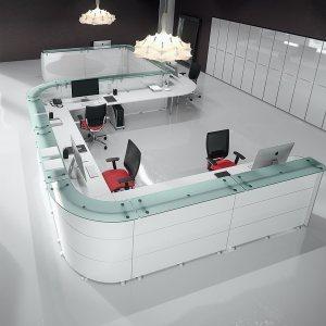 Art.REC04 - Reception modulabile, personalizzabile, disponibile in diverse finiture e dimensioni (DVO)