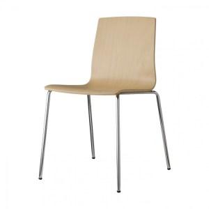 Art.SE05 - Sedia in faggio, con struttura in acciaio. Disponibile in diverse finiture. (SCAB)