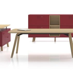 SD17 - scrivania direzionale in legno, in diverse finiture (BRALCO)