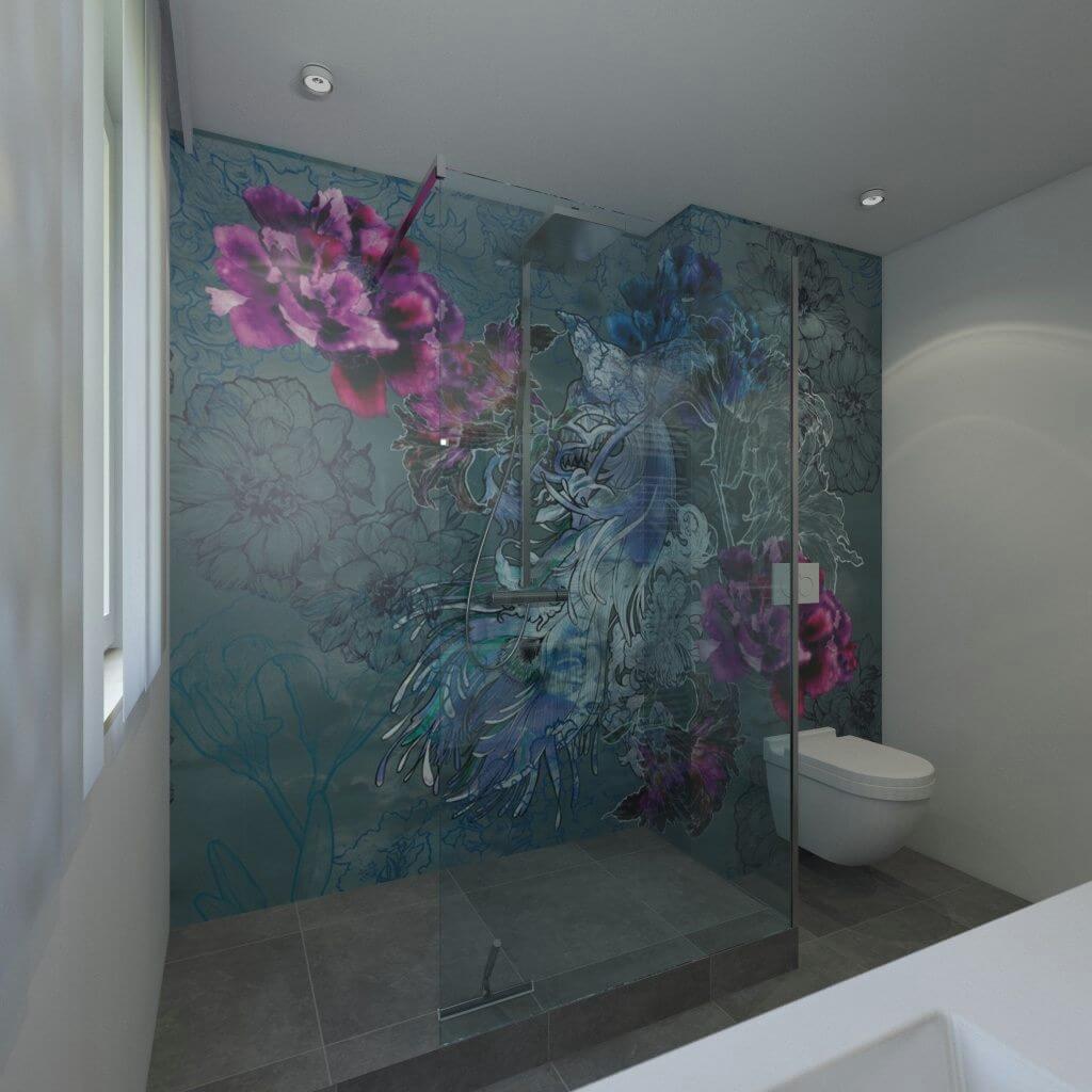 Badgestaltung mit Tapeten  Ist Tapete im Bad machbar