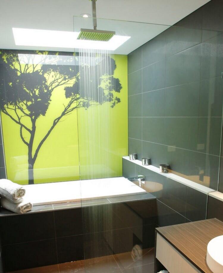 Glaswand Im Badezimmer