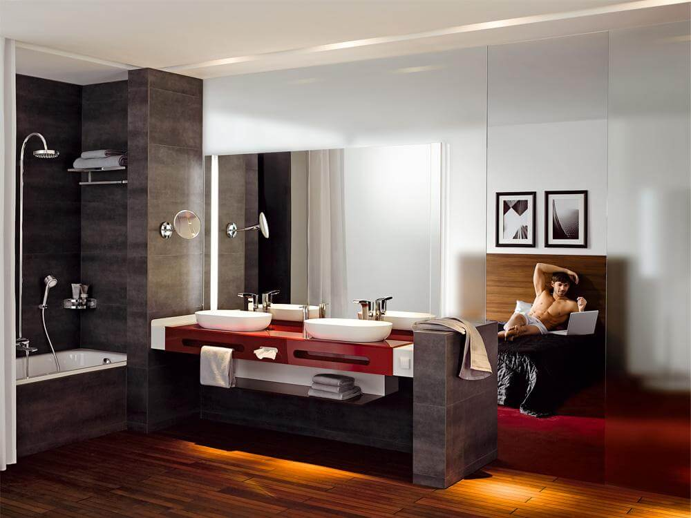Badezimmer Im Schlafzimmer Integriert  Wohndesign