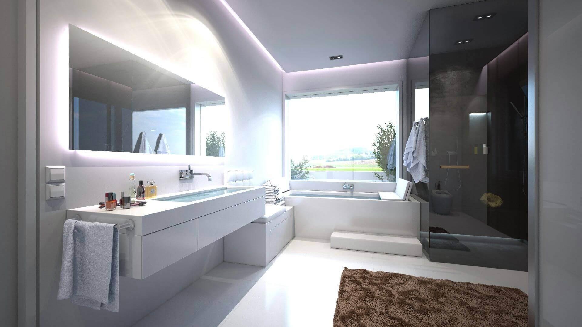 Tipps vom Designer Badezimmer vergrern mit dem Bodenbelag