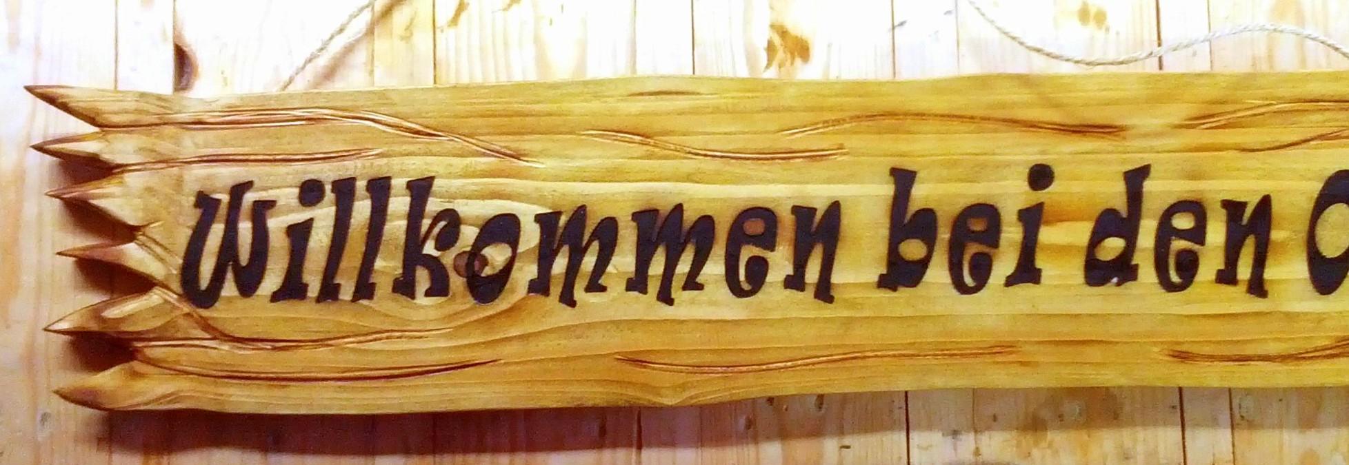 Individuelle Holzschilder - Design-Beton