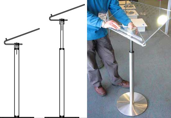 Adjustable Lectern I Stephen Procter Designer