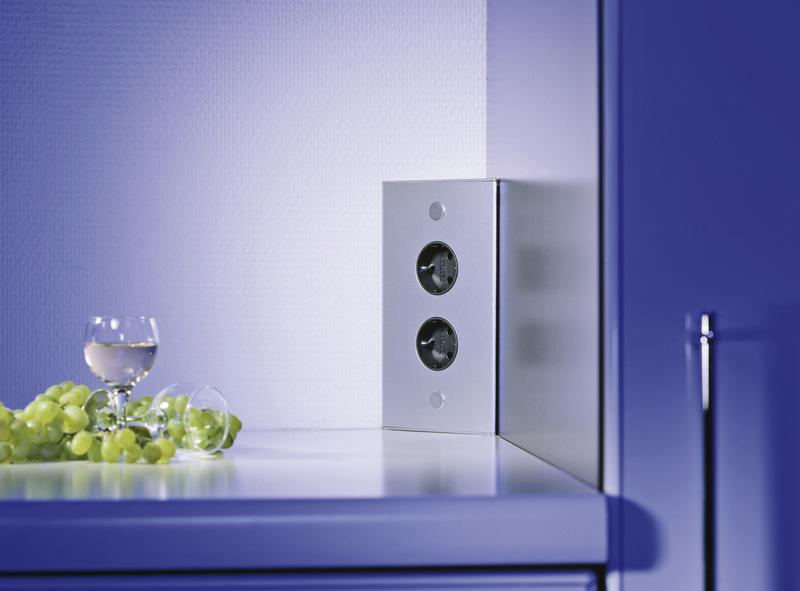 Kchensteckdose Thebo ST 30072 alu 175872002  Design