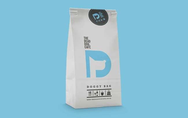 The Dead Dog Cafe packaging design