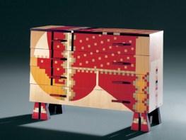 CALAMOBIO Chest of Drawers-Dresser by Alessandro Mendini (Re-edition, 1988) from ZANOTTA (Edizioni Collection) - Copyright: © ZANOTTA, Alessandro Mendini (Atelier Mendini)
