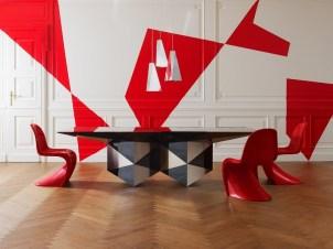 ARLEQUIN T Dining Table by Pietro Ferruccio Laviani (2010) from EMMEMOBILI (Copyright: © EMMEMOBILI, Pietro Ferruccio Laviani)