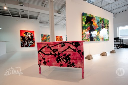 CHEST OF DRAWERS-DRESSER-COMMODE Graffiti-Painting-Artwork on Furniture by artist DUDEMAN (2012 - Photo by Nick Wons) - Copyright©: Dudeman (Nicholas Sinclair), Nick Wons