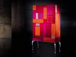 GOOD MOOD 7010 Mobile Bar-Cabinet-Cupboard-Buffet by Leonardo de Carlo ('Riflessivo' Collection, 2010) from ARTE VENEZIANA (Copyright: © Leonardo de Carlo, ARTE VENEZIANA)